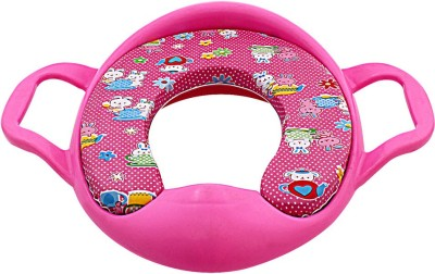 DealBindaas Cushioned Potty Seat With Handle Pink Potty Seat