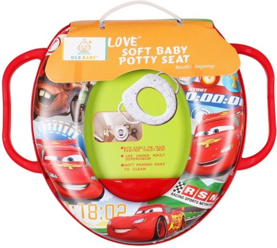 Ole Baby Lightning Mc Queen of the Movie Cars, Padded, Soft, and Durable,Full Cushion Assorted Potty Seat