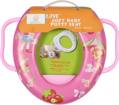 Ole Baby Cutie Princess with Kitty Cat in Garden, Padded, Soft, and Durable,Full Cushion Assorted Potty Seat