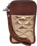 Berrypeckers Gold Quilted Mobile Pouch (...