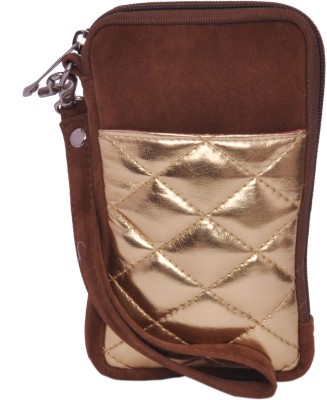 Berrypeckers Gold Quilted Mobile Pouch