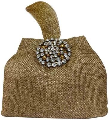 Laviva Tan Colored Jute Potli Bag by Laviva Potli