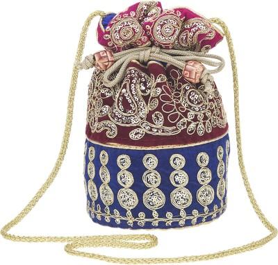Fashiondrobe Ethnic Silk Broad Brocade Potli