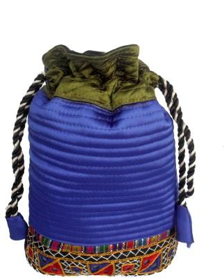 Sheela's Arts&Crafts Potli pouches Potli(Dark Blue)