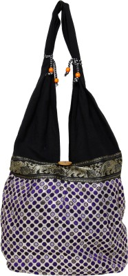Galz4ever Fabric Canvas Black & White Hand Bag Wristlet