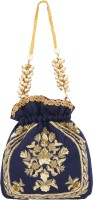D'oro D'oro Hang-over - Party Favour Draw String (Navy Blue) Potli(Navy Blue)
