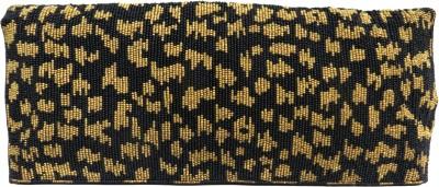 Kawaii Leopard Gold Beaded Double Fold Hand Bag Pouch