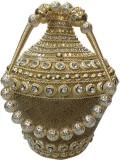 Bhamini Conical Metal Batwa with Brocade...
