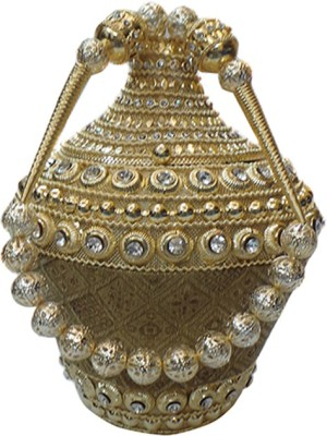 Bhamini Conical Metal Batwa with Brocade Base Potli