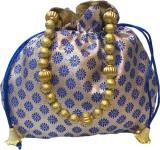 Bhamini Small ethnic Potli (Blue)