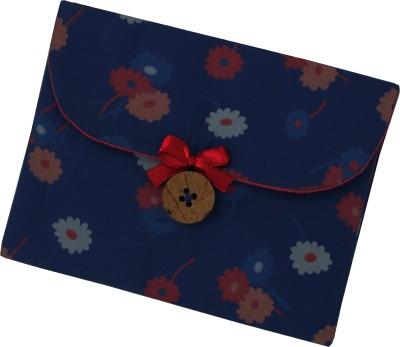 YOGE Prussian Blue Garden Sanitary Napkin Pouch