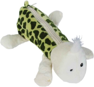 Tootpado Plush Animal Giraffe Pen pencil Pouches for kids - Green (1n96) - Fancy stationary Pouch(Green)