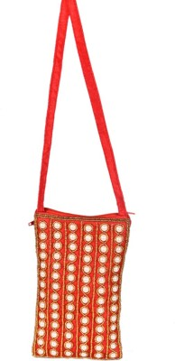 Himalaya Handicraft Mobile pouch Mobile Pouch(red)