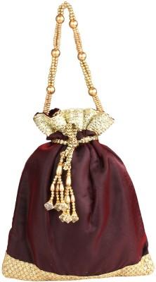 PRETTY KRAFTS Fashionable Maroon Potli