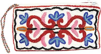 muccasacra Kashmiri Embroidery Hand made Designer Pouch(Multicolour)