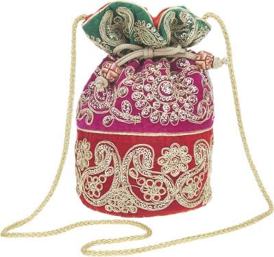 Fashiondrobe Beautiful Silk Broad Brocade Potli