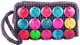Bag Cottage Industries Traditional Women's Shiny Fashionable Evening Party Wear Color Hand Pouch