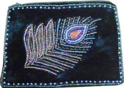 Himalaya Handicraft Handmade Embroidered Designer Moar Pankh Coin Purse