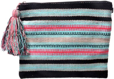 Diwaah Hand crafted Multi Embroidered Rug handheld Pouch