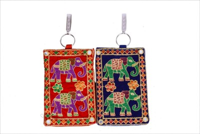 Craft Trade Craft Trade Elephant Design Mobile Pouch (B) Mobile Pouch