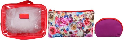 Super Drool Red Floral Burst Multiutility Pouch