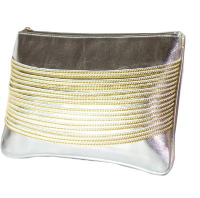 Zahra Jani Zahra Jani Silver Leather Chain Pouch Pouch