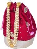 Arisha Kreation Co Wristlet Potli (Maroo...