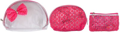 Super Drool Pink Decorative Bow Multiutility Pouch