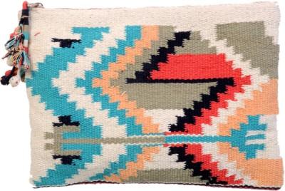 Diwaah Diwaah!! Multi rug hand zip top pouch. Pouch