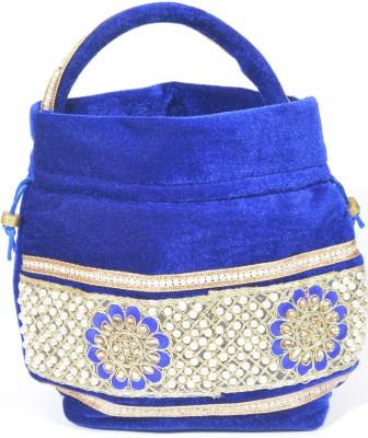 Srmgifts hand made bag Potli(BLUE)