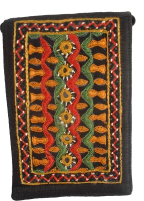 Sheela's Arts&Crafts pouches Mobile Pouch(Black)