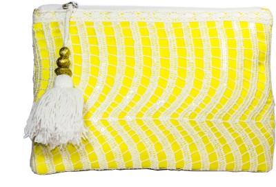 Zahra Jani Zahra Jani Yellow Lace Pouch Pouch