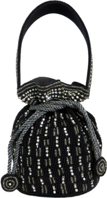 Kawaii Black Beaded Potli