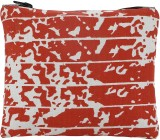 Ruse Printed Pouch (Red, White)