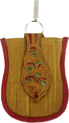 Sheela's Arts&Crafts Mobile pouches Mobile Pouch(Yellow)