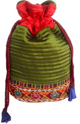 Sheela's Arts&Crafts Potli pouches Potli(Green)