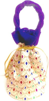 Gliteri ethnic purple traditional potli Potli
