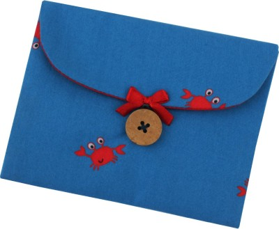 YOGE Red Crabs on Blue Sanitary Napkin Pouch