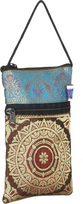 Korni Mobile Pouch Mobile Pouch(Brown, Blue)