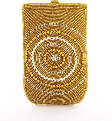 LadyBugBag Designer Golden Silk Mobile Pouch