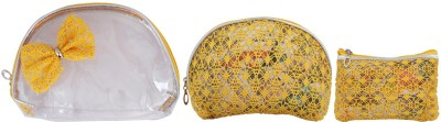 Super Drool Yellow Decorative Bow Multiutility Pouch