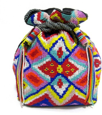 Kawaii Cotton Beaded Bag Potli