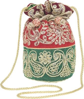 Fashiondrobe Elegant Silk Broad Brocade Potli