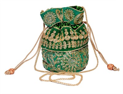 Sampoornam India Green Pouch Potli