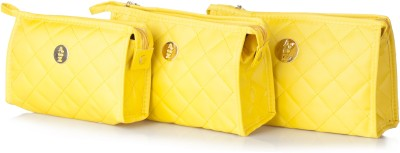 Stylehoops Vibrant Yellow Cosmetic Pouch