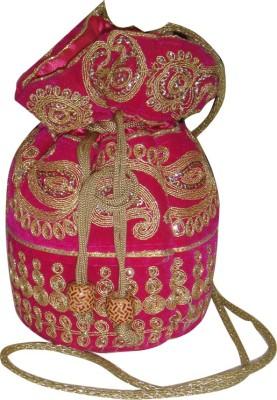 AADOO Handmade Designer Pink Potli Bags Potli