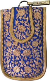 AVIRATI Blue Silk mobile pouch cover Pouch
