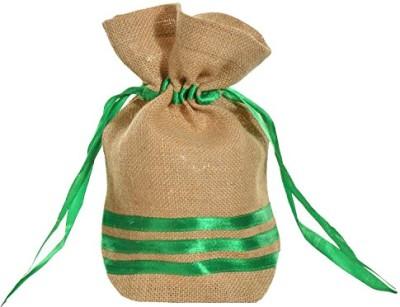 Kohl Potli Bag Large Green Wristlet