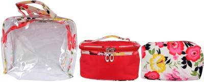 Super Drool Red Floral Love Multiutility Pouch