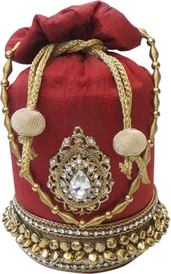 Bhamini Ghungroo Batwa with Almond shape Brooch Potli